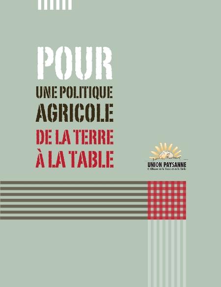 Pour une Politique agricole de la Terre à la Table