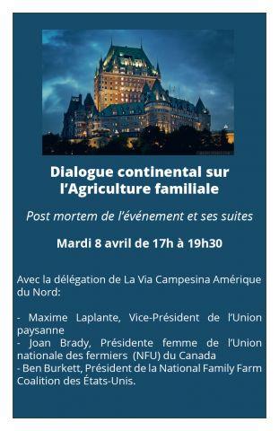 Invitation à rencontrer la délégation de La Via Campesina à Québec