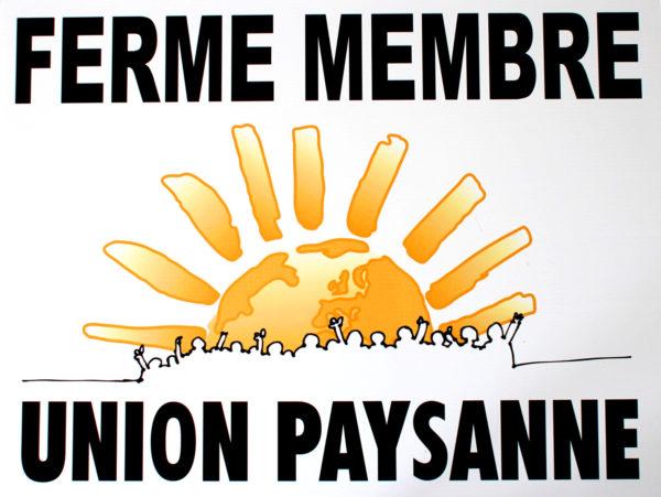 affiche ferme membre union paysanne