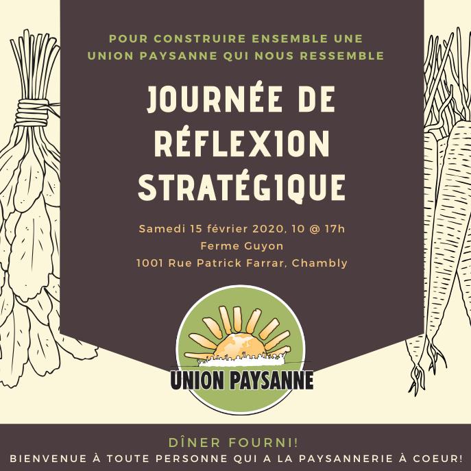 Invitation: journée de réflexion stratégique