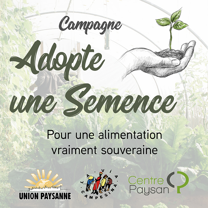 Lancement de la campagne Adopte une Semence